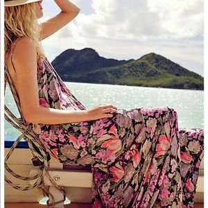 Free People strappy floral maxi dress XS
